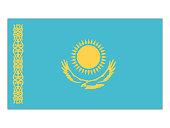 Vector illustration of flag of Kazakhstan