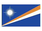 Vector illustration of flag of Marshall Islands