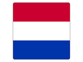 Vector illustration of the square flag of Netherlands
