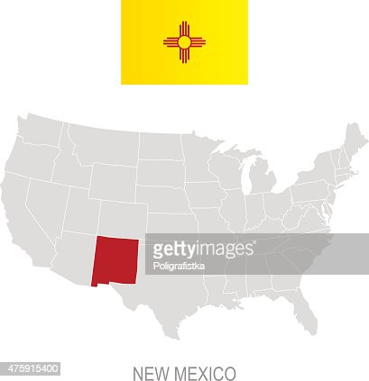 Detailed Vector Map Of New Mexico Vector Art Getty Images - New mexico on us map