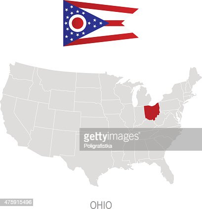 Map Of Ohio Vector Art Getty Images - Ohio location on us map