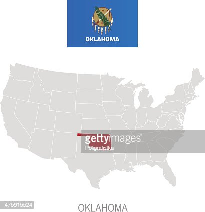 Map Of Oklahoma Vector Art Getty Images - Oklahoma in us map