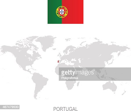 Portugal Infographic Map Illustration Vector Art Getty Images - Portugal map flag