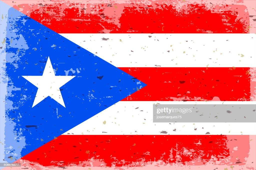Flag of  puerto rico : Vector Art