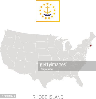 Detailed Vector Map Of Rhode Island Vector Art Getty Images - Rhode island in us map