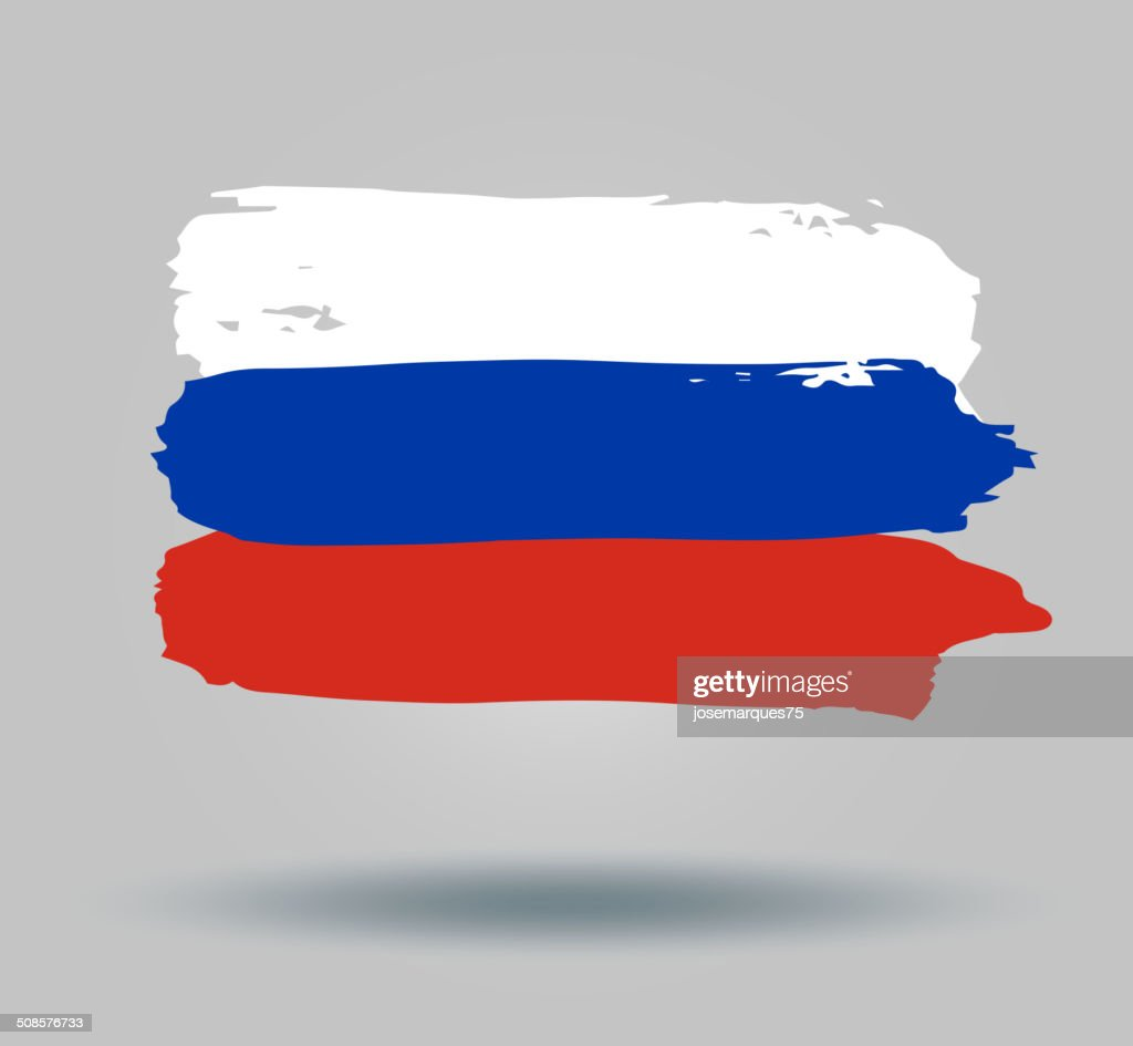 Flag of Russia : Vector Art