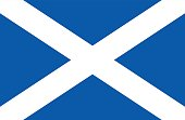 Vector illustration of the flag of Scotland.