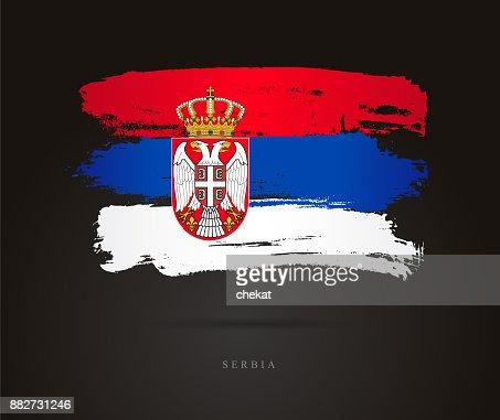 Flag of Serbia. Vector illustration : stock vector