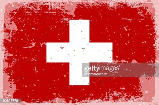 Bandiera della Svizzera : Arte vettoriale