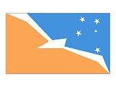 Vector illustration of the flag of Tierra del Fuego