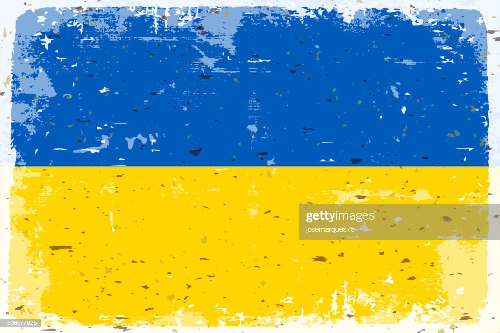 Flag of Ukraine : Vector Art
