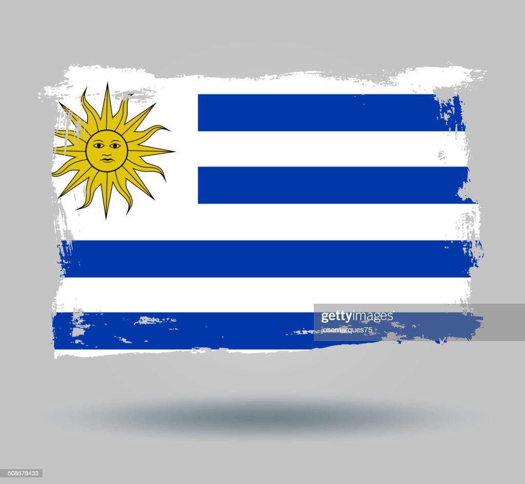 Flagge von Uruguai : Vektorgrafik