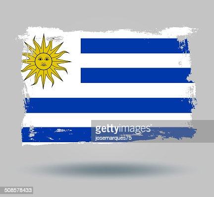 Flag of Uruguai : Vectorkunst
