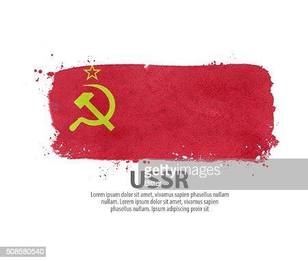 flag USSR, Russia. vector illustration : Vector Art