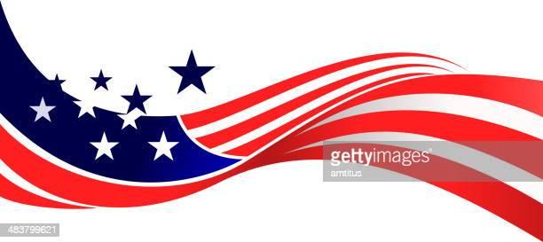 USA bandiera Sventolare