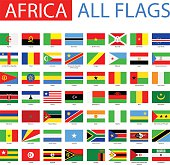 Vector Set of Flat African Flags