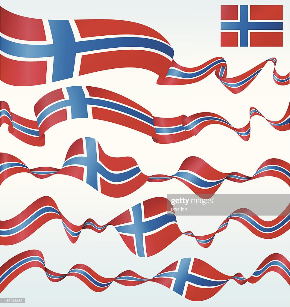 flags of norway banners vector art getty images