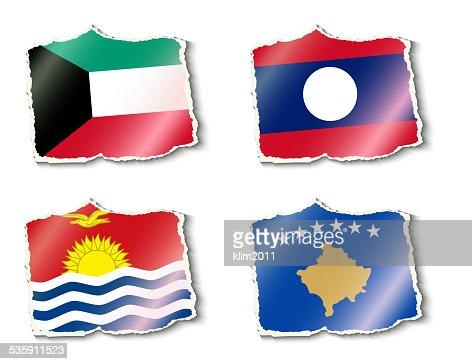 Bandeiras do mundo, Ilustração vetorial : Arte vetorial