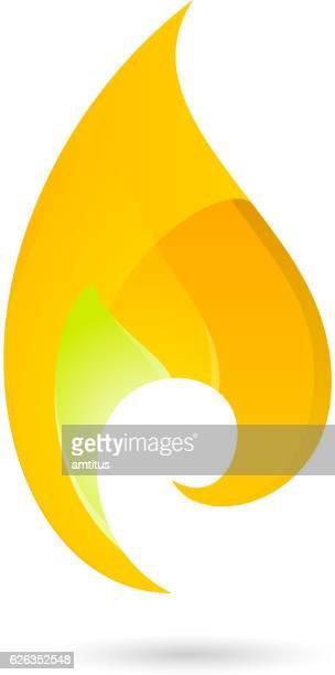 Flamme design-element