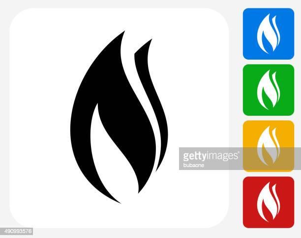 Flamme Symbol flache Grafik Design