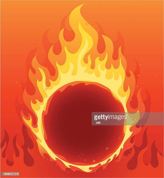 A flaming ring of fire background