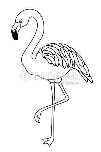 lawn flamingo outline - photo #3