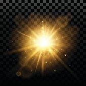 Flash effect in vector