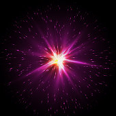 Flash Star, Light flare special effect background, vector illustration.