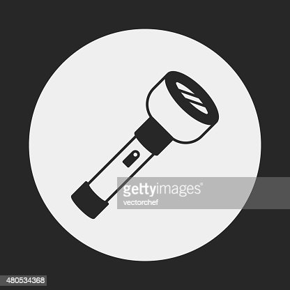 flashlight icon : Vectorkunst