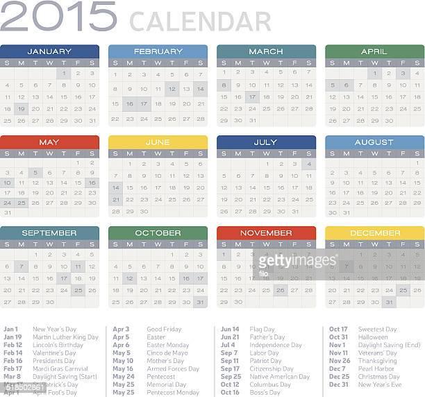 Flat 2015 Calendar