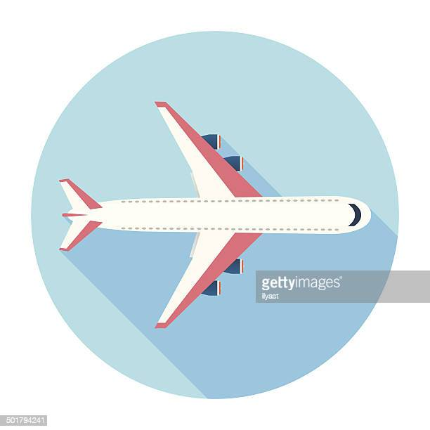 Flat Airplane Icon