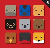 Animal Icons EPS10 File Format