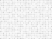 Flat binary code screen listing table cypher