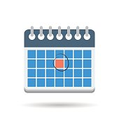 Vector isolated illustration of flat month calendar icon on white