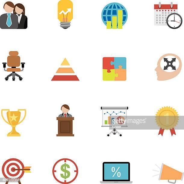 Flat Business icons | Simpletoon series