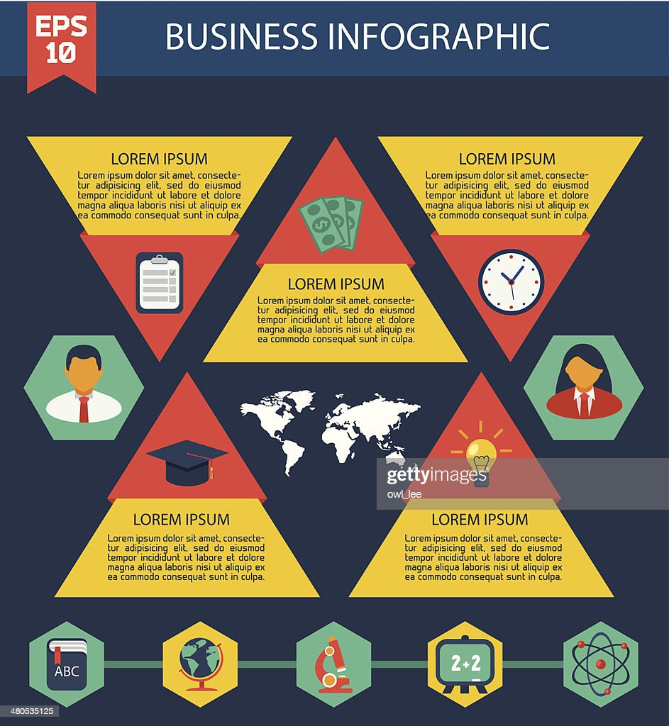Flat Business Infographic Background : Vector Art