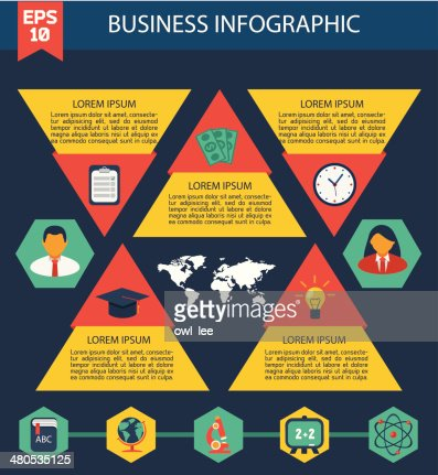 Flat Business Infographic Background : Vektorgrafik