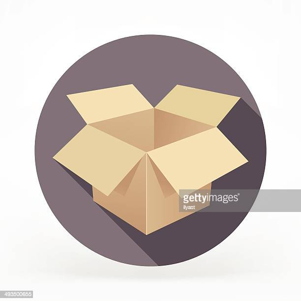 Flat Card Box Icon