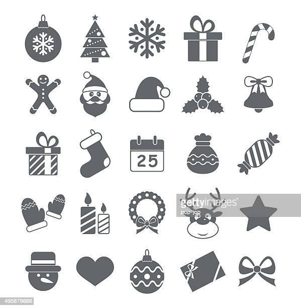 Flat Christmas Icons - Illustration