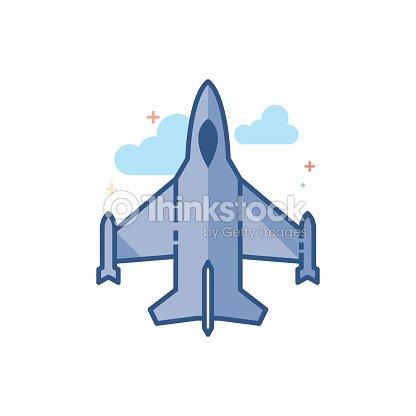 Icono De Color Plano Aviones De Combate Arte vectorial   Thinkstock