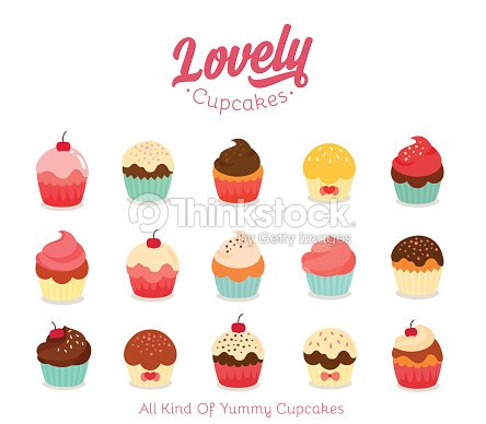 Flat cupcake illustration : clipart vectoriel