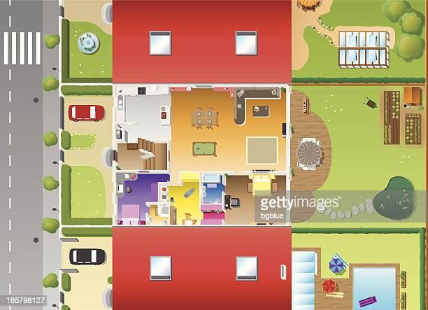 plan de la casa y furnitures