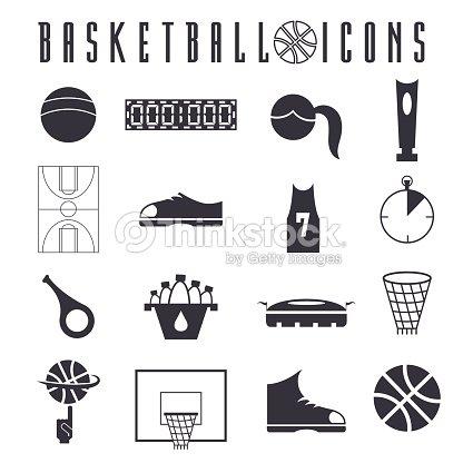Flat Design Icons Of Basketball Vector Art Thinkstock