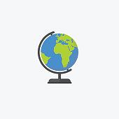 World globe isolated on white background