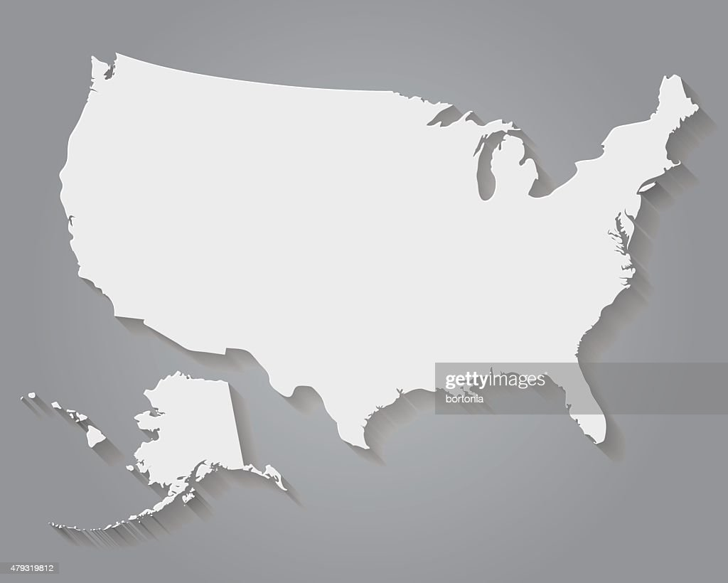 Flat Design Paper United States Of America Map Vector Art Getty