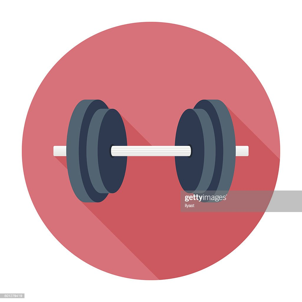 Dumbbell Icon Vector Flat Dumbbell I...