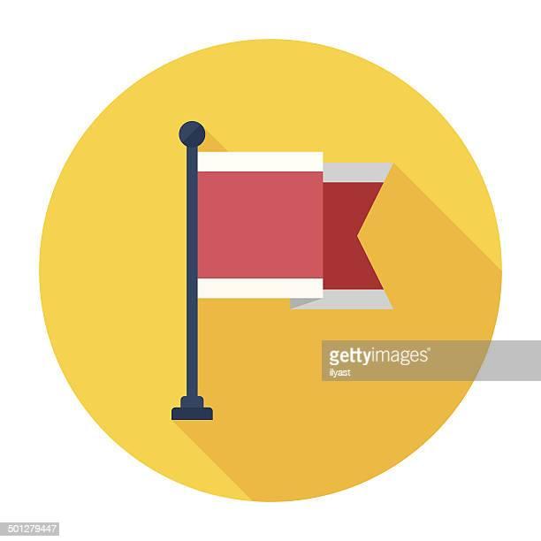 Icono bandera plana