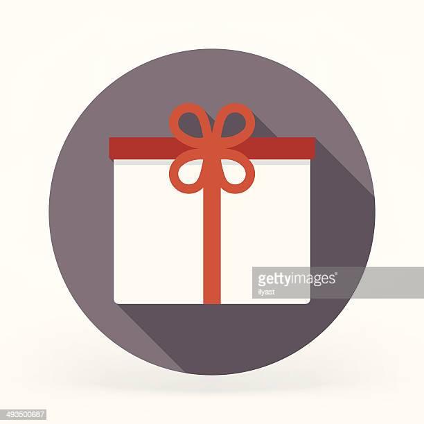 Icono plana de regalos