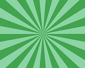 Flat Green Sunburst rays sunbeam background vector
