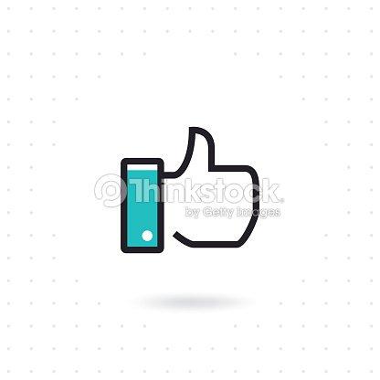 Flat hand like icon : stock vector